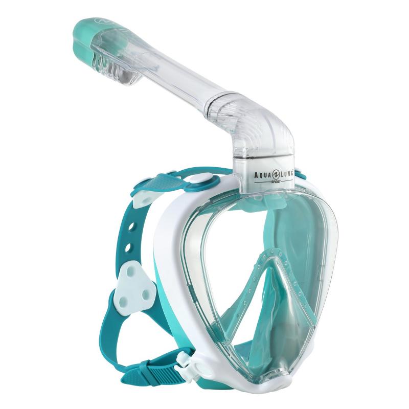 Potápačská maska AQUALUNG-SMART SNORKEL ,WHT TURQ -