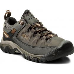 Pánska turistická obuv nízka KEEN-Targhee III WP black olive/golden brown