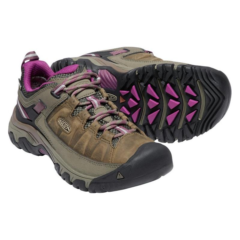 Dámska turistická obuv nízka KEEN-Targhee III WP weiss/boysenberry -