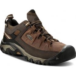 Pánska turistická obuv nízka KEEN-Targhee III WP big ben/golden brown