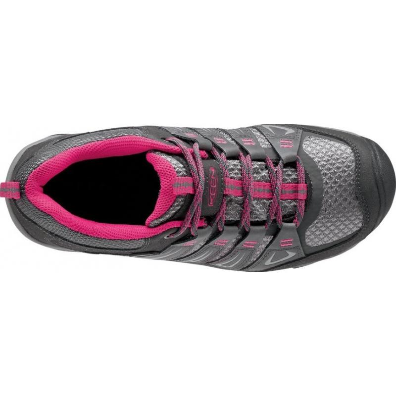 Dámska turistická obuv nízka KEEN-Oakridge WP magnet/rose -