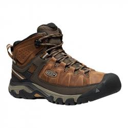 Pánska turistická obuv stredná KEEN-Targhee III WP mid big ben/golden brown