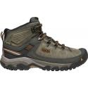 Pánska turistická obuv stredná KEEN-Targhee III WP mid black olive/golden brown -