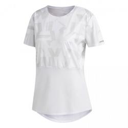 Dámske tréningové tričko s krátkym rukávom ADIDAS-OWN THE RUN TEE-WHITE/GREONE