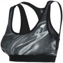 Dámska tréningová športová podprsenka 4F-SPORTS BRA STAD001-20A-Black -