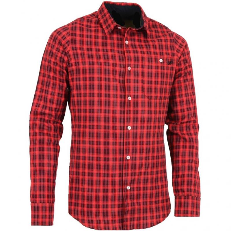 fb17b63c7612 Pánska turistická košeľa s dlhým rukávom NORTHFINDER-3633redchcek kosela  panska Flannel long sleeve -
