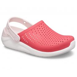 Dětská rekreační obuv CROCS-LiteRide Clog K poppy / white