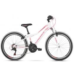 Juniorský bicykel KROSS-GO Esprit JR bia_róż p