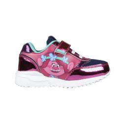 Detská rekreačná obuv CERDA-Sporty shoes light sole Trolls fuchsia