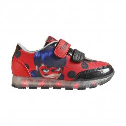 Dětská rekreační obuv CERDA-Sporty shoes lights Lady Bug red