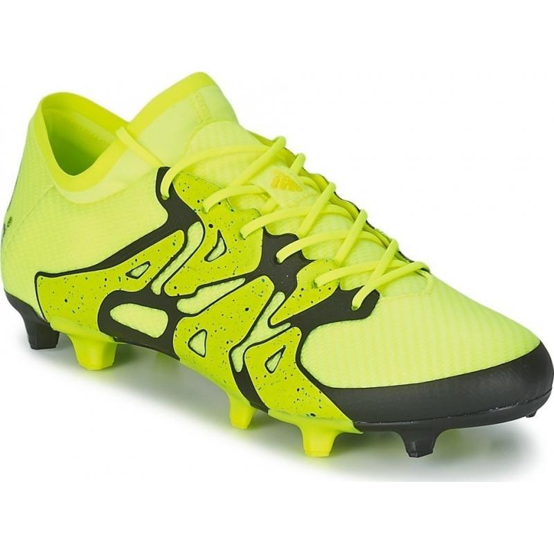 new concept efa16 b4870 Pánske futbalové kopačky outdoorové ADIDAS-X15.1 M FG/AG core black/acid  yellow