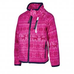 Dievčenská flisová mikina so zipsom AUTHORITY-NORKY KIDS pink