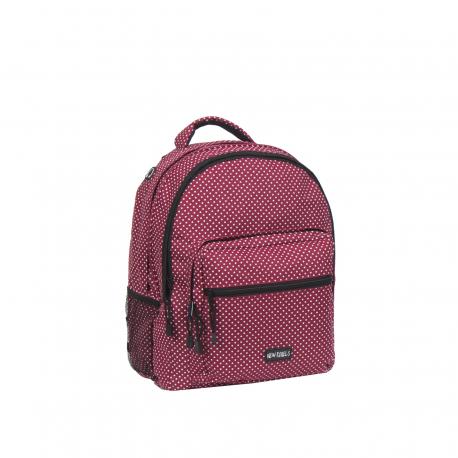 Dámsky batoh NEW REBELS-school backpack burgundy/white