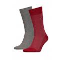 Pánske ponožky TOMMY HILFIGER-Tommy Hilfiger Socks BirdEye Red/Black 2-Pack -