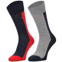 Pánske ponožky TOMMY HILFIGER-Tommy Hilfiger Socks Key Style Half Half 2P M