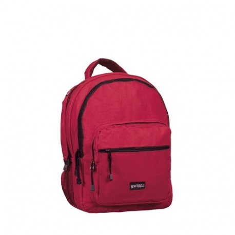Batoh NEW REBELS-school backpack burgundy