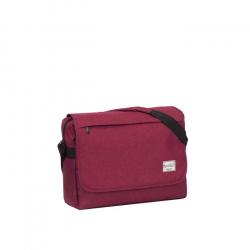 Taška cez rameno NEW REBELS-Basic plus A4 burgundy