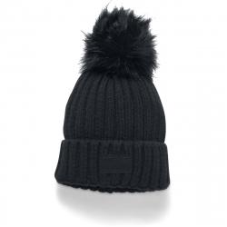 Dámska zimná čiapka UNDER ARMOUR-Snowcrest Pom Beanie-BLK - 1299905-001