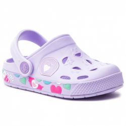Detské kroksy (rekreačná obuv) COQUI-Froggy lila hearts