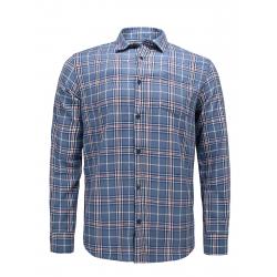 Pánská košile s dlouhým rukávem VOLCANO-K-Marton -606-DENIM