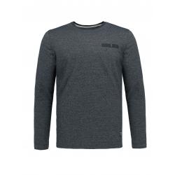 Pánske tričko s dlhým rukávom VOLCANO-L-CHESTER-600M-NAVY MEL