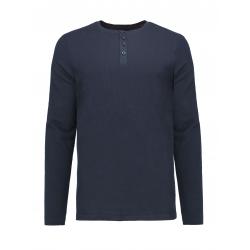 Pánske tričko s dlhým rukávom VOLCANO-L-ALASTOR-600-NAVY