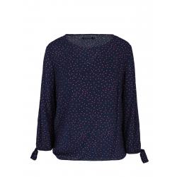 Dámska košeľa s dlhým rukávom VOLCANO-K-ELLA-600-NAVY