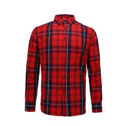 Pánská košile s dlouhým rukávem VOLCANO-K-WING-400-RED