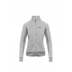 Dámska turistická mikina so zipsom SAM73-Womens sweatshirt - sweater fleece-LPLM053773SM-light gray