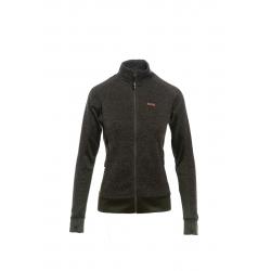 Dámska turistická mikina so zipsom SAM73-Wwomens sweatshirt - sweater fleece-LPLM053549SM-khaki