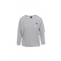 Dámske tričko s dlhým rukávom SAM73-womens T-shirt long sleeves-WT 788 401-light gray -