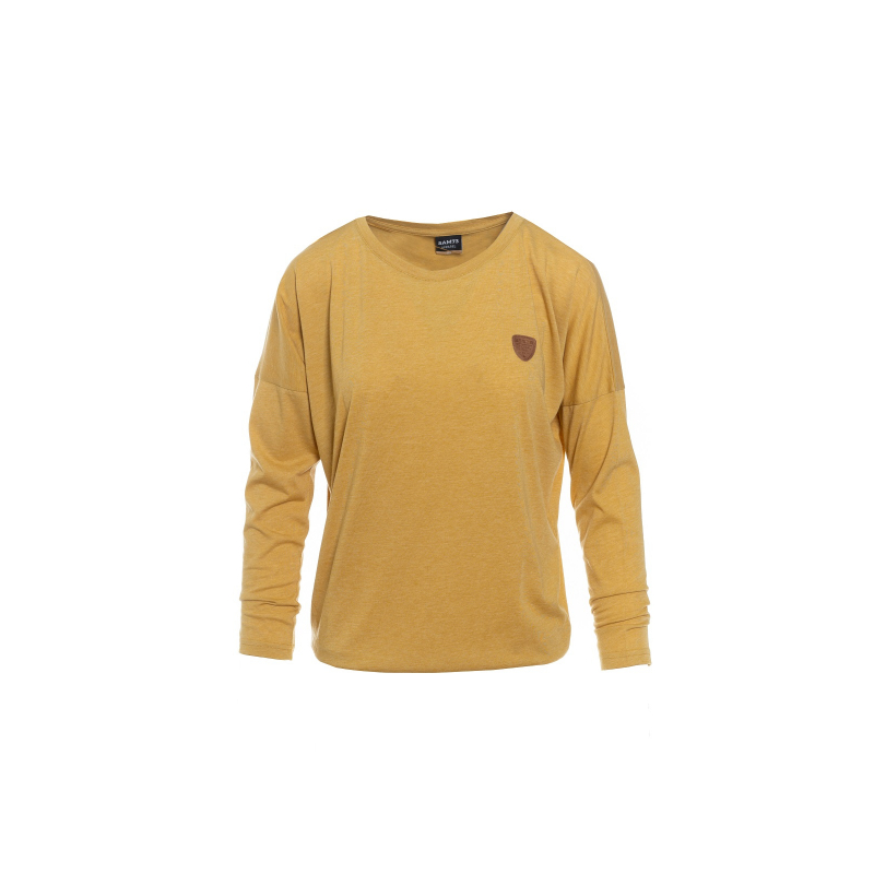 Dámske tričko s dlhým rukávom SAM73-womens T-shirt long sleeves-WT 788 310-ocher -