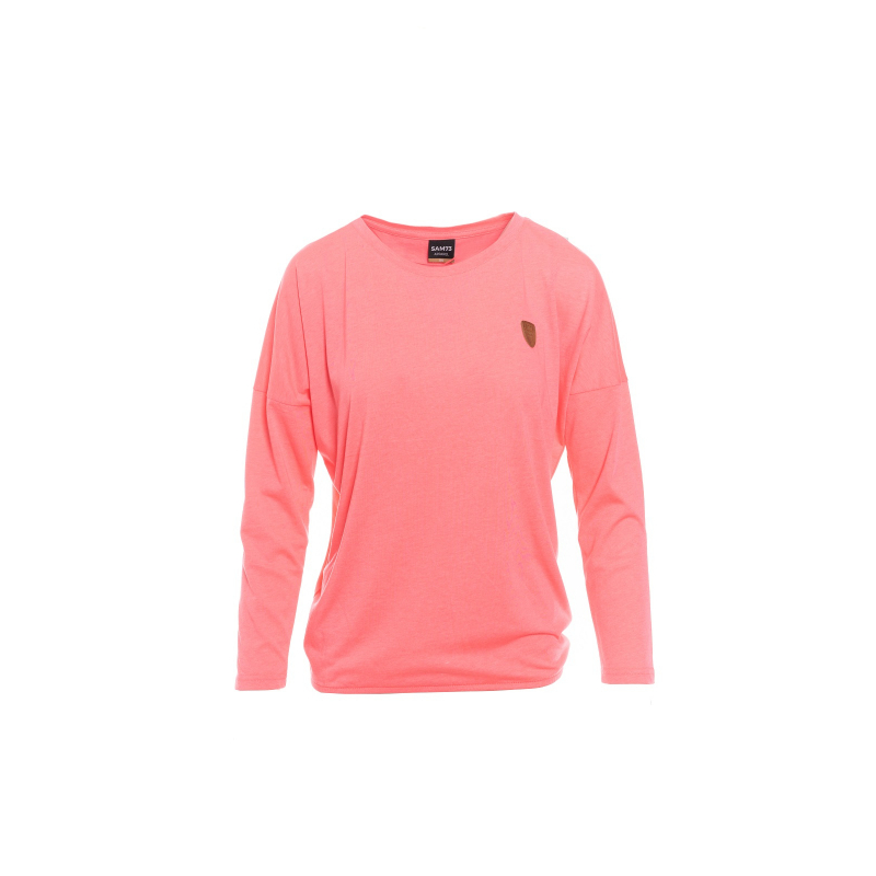 Dámske tričko s dlhým rukávom SAM73-womens T-shirt long sleeves-WT 788 118-neon pink -