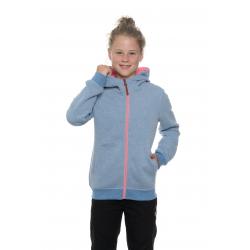 Dievčenská mikina s celým zipsom SAM73-girls sweatshirt-GM 518 200-light denim