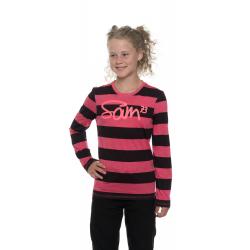 Dievčenské tričko s dlhým rukávom SAM73-Girls T-shirt long sleeves-GT 534 120-dark pink