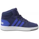 Juniorská rekreačná obuv ADIDAS-Hoops Mid 2.0 dkblue/blue/ftwwht -