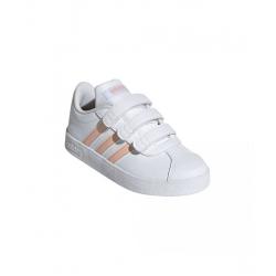 Detská rekreačná obuv ADIDAS-VL Court 2.0 ftwwht/glopnk/glopnk