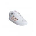 Detská rekreačná obuv ADIDAS-VL Court 2.0 ftwwht/glopnk/glopnk -