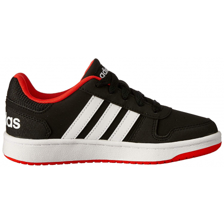 Juniorská rekreačná obuv ADIDAS CORE-HOOPS 2.0 K CBLACK/FTWWHT/HIRERE