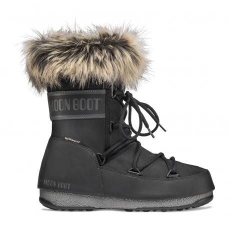 Dámska zimná obuv vysoká MOON BOOT-MB MONACO LOW WP 2 black