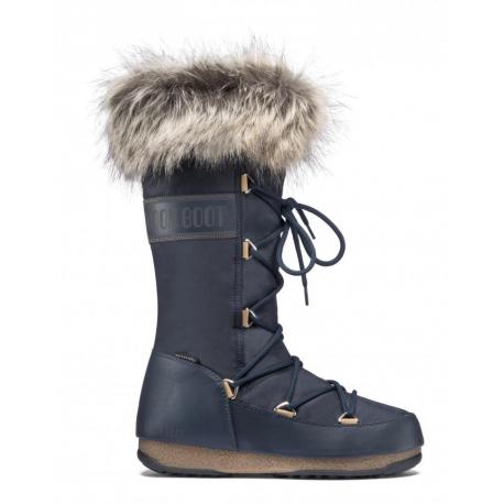 Dámská zimní obuv vysoká MOON BOOT-MBMONACO WP2 denim blue