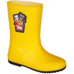 Dětské gumáky COQUI-Rainy Talking Tom yellow / antracit