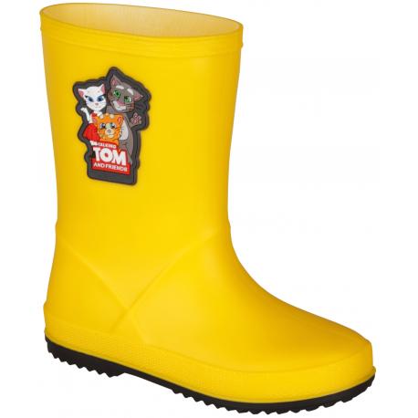 Detské gumáky COQUI-Rainy Talking Tom yellow/antracit