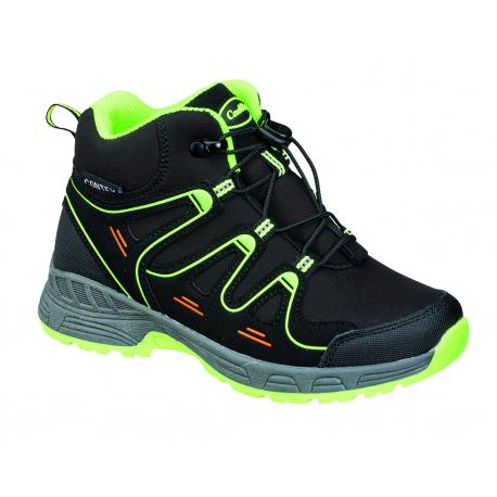 Juniorská turistická obuv stredná CONWAY-Veruna black/lime
