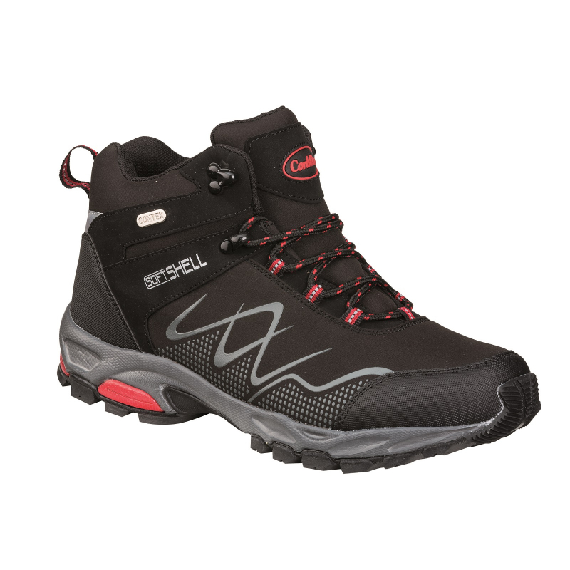 Dámska turistická obuv CONWAY-Caravete black/red -