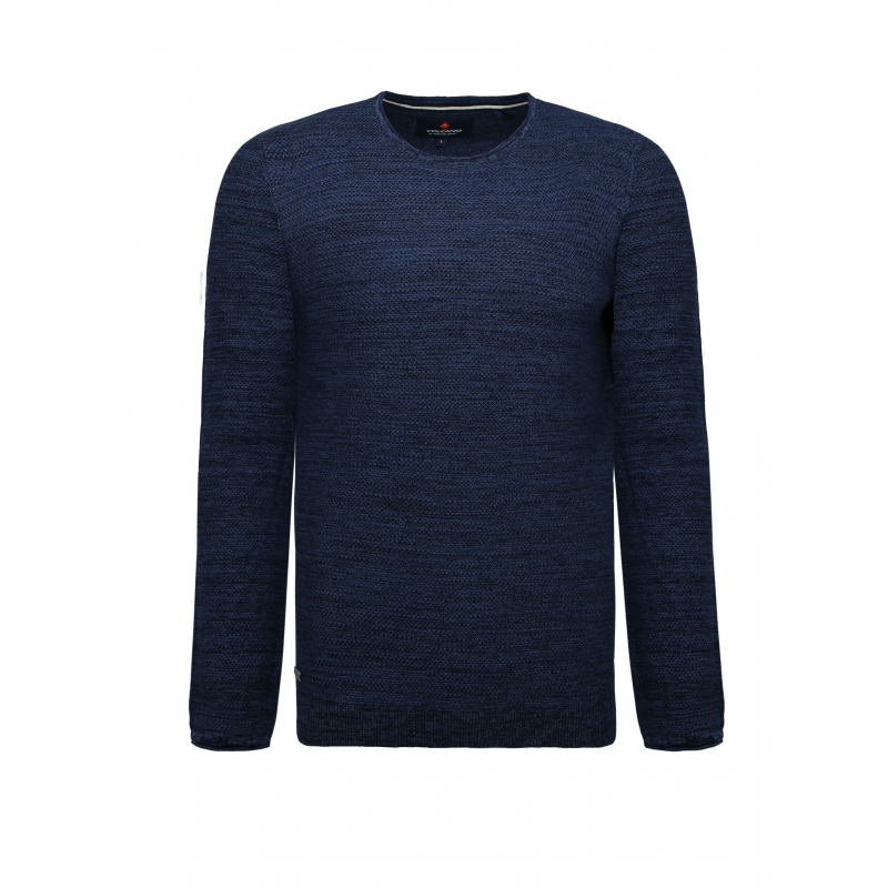 Pánský svetr VOLCANO-S-MARCO-606M-DENIM MEL -