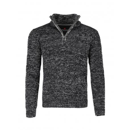 Pánsky sveter VOLCANO-S-FLY -702-GRAPHITE MEL