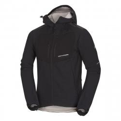 Pánska turistická softshellová bunda NORTHFINDER-ABYDON-blackblack