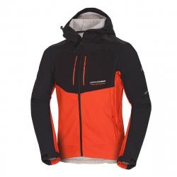 Pánska turistická softshellová bunda NORTHFINDER-ABYDON-blackred