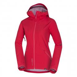 Dámska turistická softshellová bunda NORTHFINDER-ANEXIS-rose